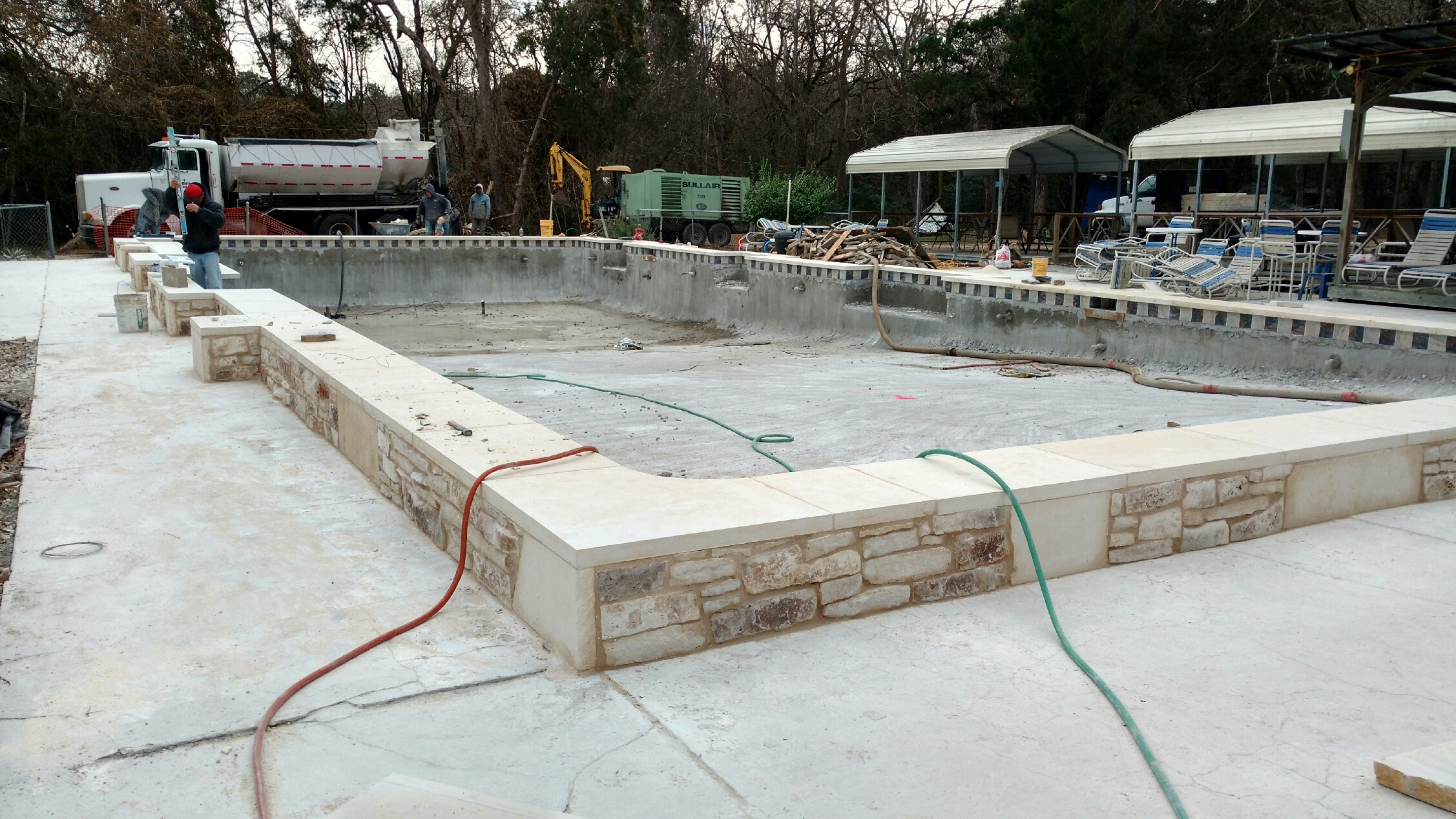 New pool construction at star ranch star ranch nudist club for New pool construction